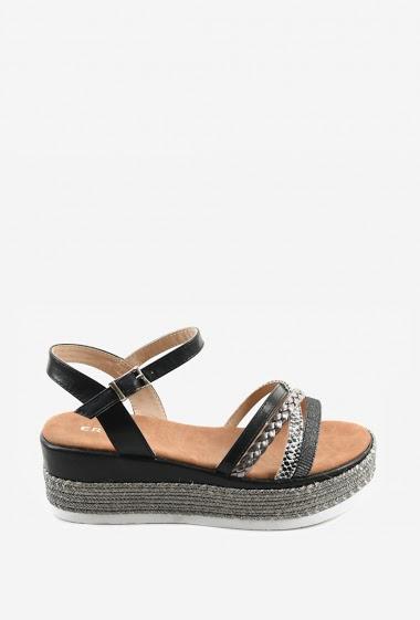 Sandales à semelle tressée | Matière(s): P.U | Semelle intérieur: P.U | Marques: Erynn | Semelle extérieur: P.U