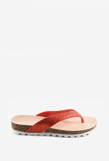 Nu-pieds glitter | Matière(s): P.U | Semelle intérieur: P.U | Marques: Erynn | Semelle extérieur: P.U
