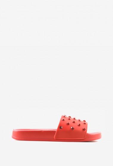 Sandales à studs | Matière(s): P.U | Semelle intérieur: P.U | Marques: Erynn | Semelle extérieur: P.U