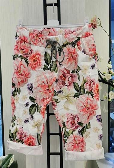 Printed capri pants stretch