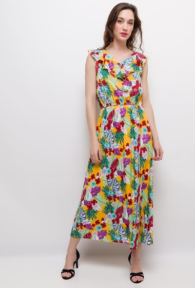 The model measures 177cm, one size corresponds to 10/12(UK) 38/40(FR). Length:135cm