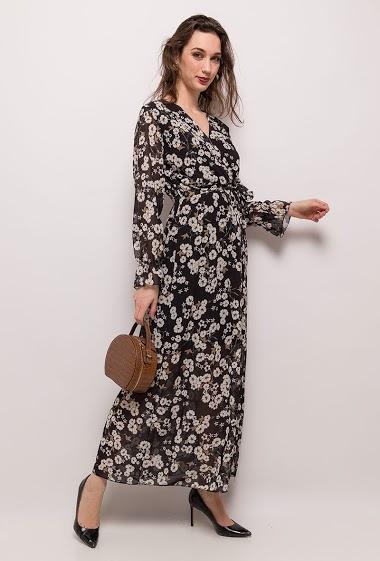 ESTEE BROWN lang blomstret kjole CIFA FASHION