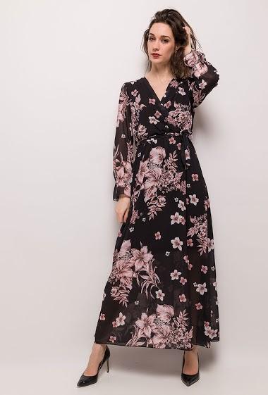 Wrap printed dress. The model measures 177cm, one size corresponds to 10/12(UK) 38/40(FR). Length:141cm
