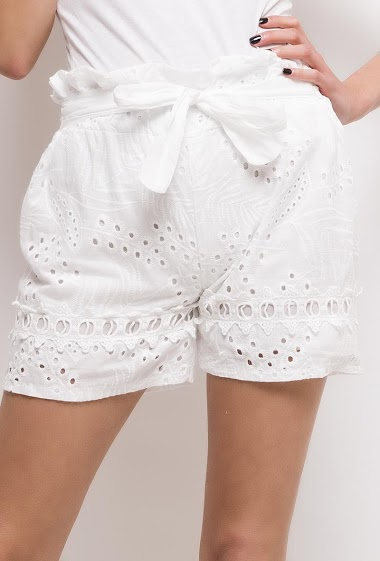 ESTEE BROWN embroidered and perforated shorts CIFA FASHION
