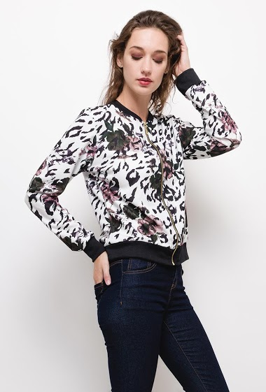 ESTEE BROWN bomberjack met print CIFA FASHION