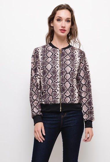 Printed bomber jacket,The model measures 177cm, one size corresponds to 10/12(UK) 38/40(FR). Length:55cm
