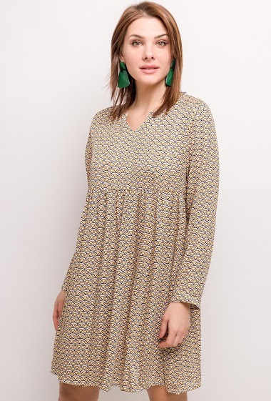 ESTHER.H PARIS jurk met geometrische prints CIFA FASHION