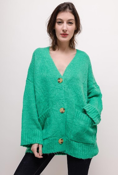 3959d60c4c Cardigan in wool mix Feelkoo