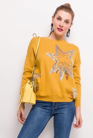 FLAM MODE sweater with stars CIFA FASHION