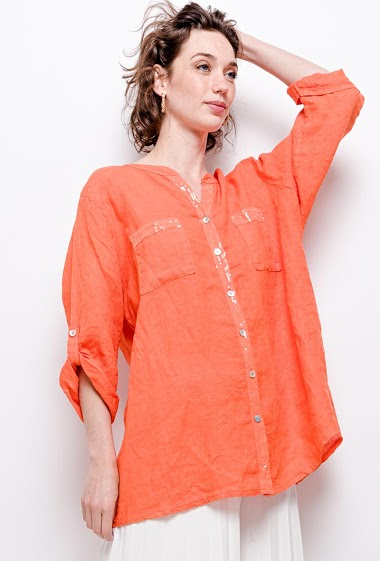 Plain big size blouse - For Her Paris