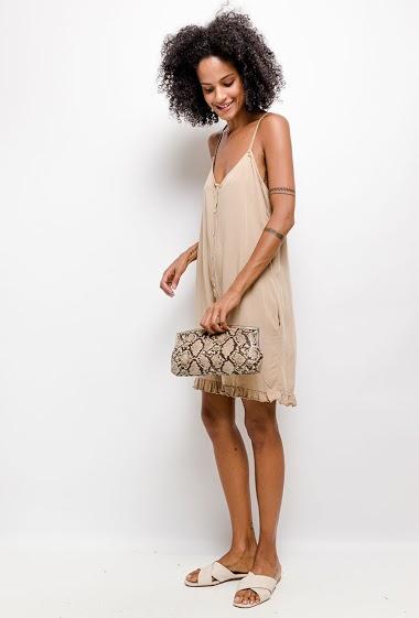 combi short uni en coton - For Her Paris