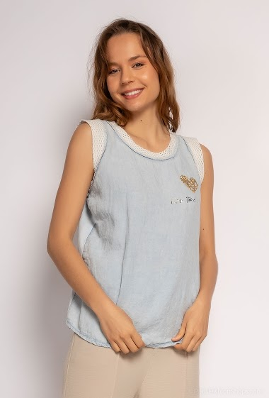 Small heart tank top - For Her Paris