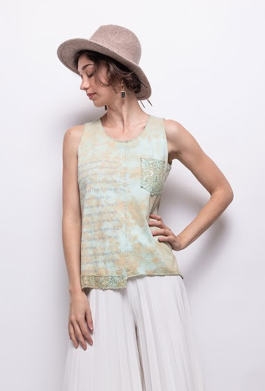 tie and dyed top in 100% cotton - For Her Paris