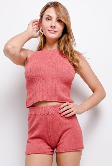 knit top and short - For Her Paris