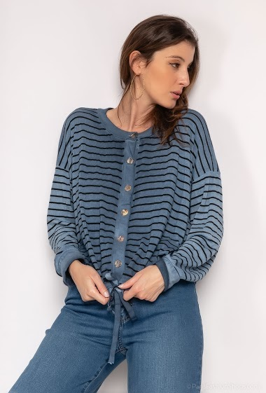 Buttoned striped waistcoat - For Her Paris