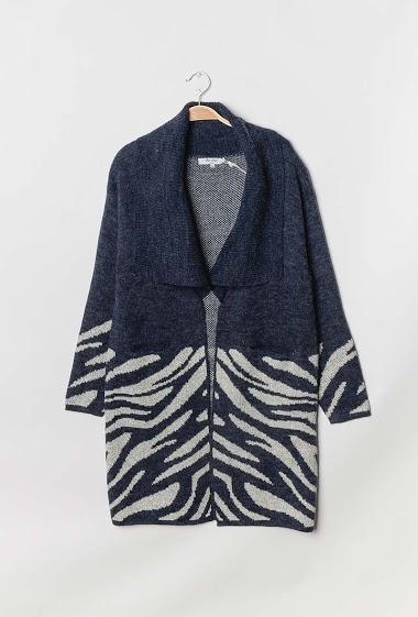 Long printed cardigan - For Her Paris