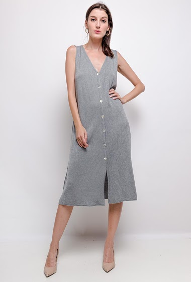 waistcoat/dress plain sleeveless knit - For Her Paris