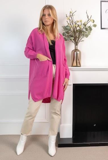 Plain oversized vest - For Her Paris