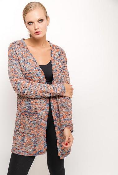 Long knit vest VIVIANA - For Her Paris
