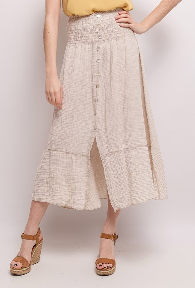 Cotton long skirt - For Her Paris