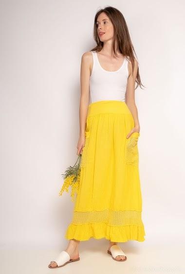 Long plain skirt - For Her Paris