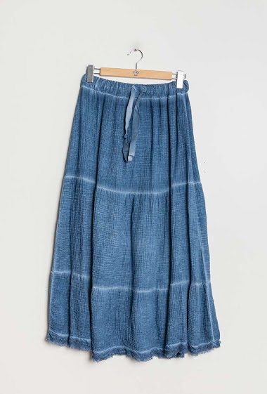 Long skirt 100% cotton - For Her Paris