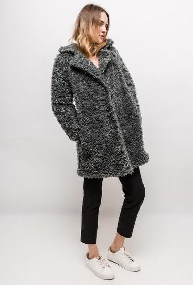 Faux shearling coat ZARINA - For Her Paris