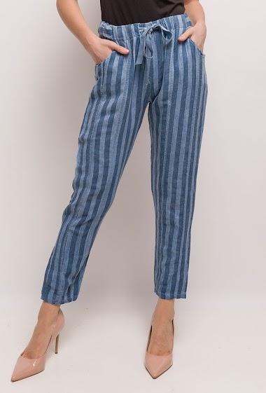 Striped capri pants - For Her Paris