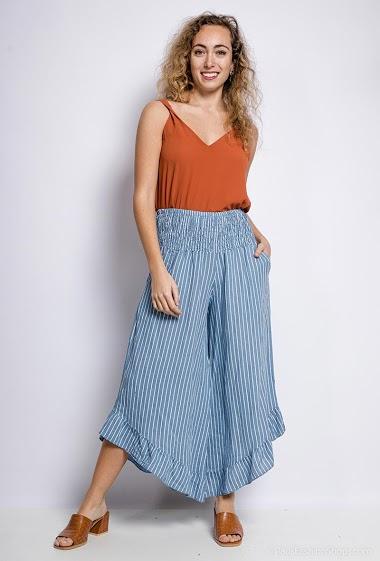 Wide pants 100% cotton - For Her Paris