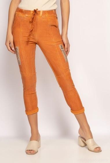 pantalon froissé avec zips - For Her Paris