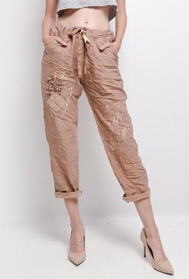 plain cotton ruffled trousers Graffiti - For Her Paris