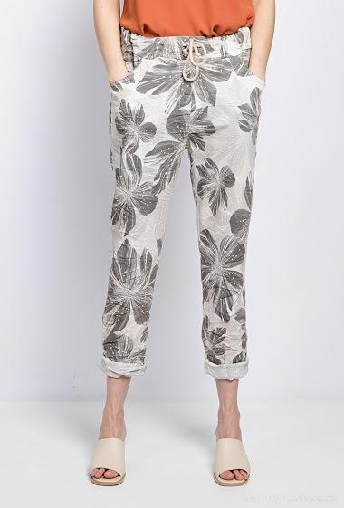 pantalon imprimé coton - For Her Paris
