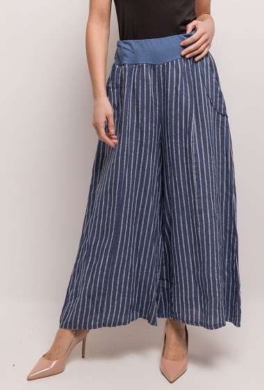 Pantalon large à rayures - For Her Paris