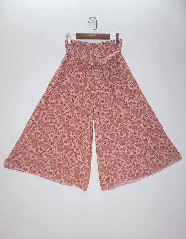 Wide pants with floral print - For Her Paris
