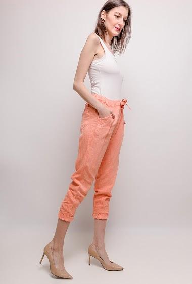 Pantalon Lin/Coton - For Her Paris
