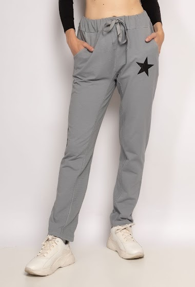 Plain pants with a star - For Her Paris