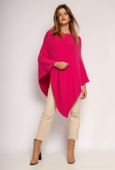 oversized round neck knit poncho - For Her Paris