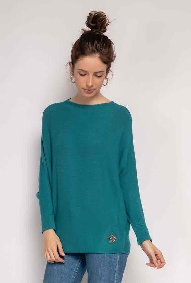 oversized plain sweater - For Her Paris