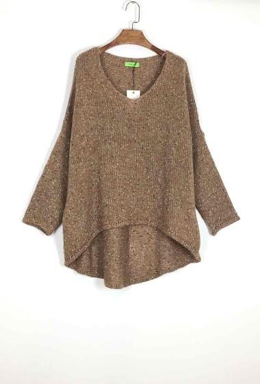 Plain oversized sweater - For Her Paris