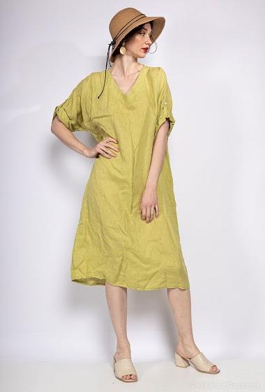 dress 100% LINEN - For Her Paris