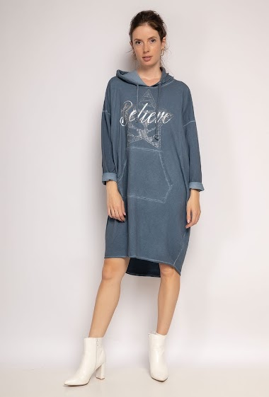 Hooded dress BELIEVE Star - For Her Paris