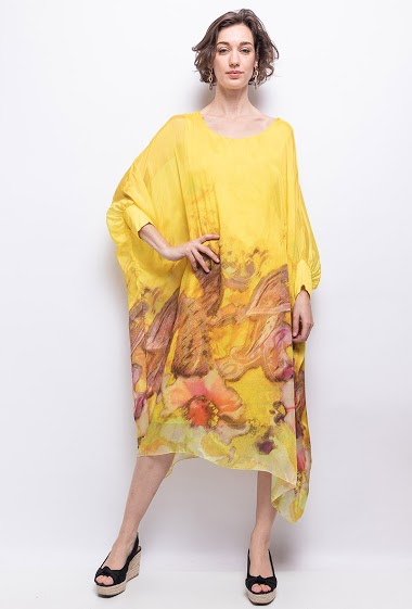 oversize dress in silk - For Her Paris