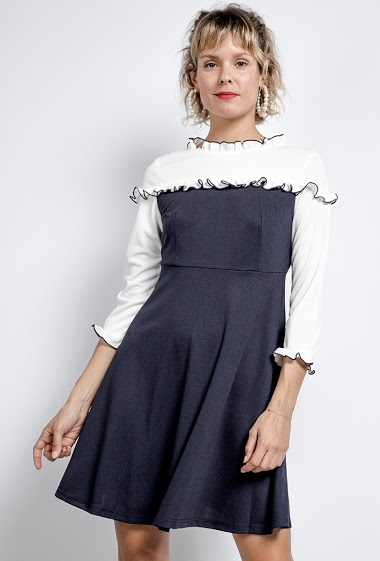 Pleated collar dress - For Her Paris