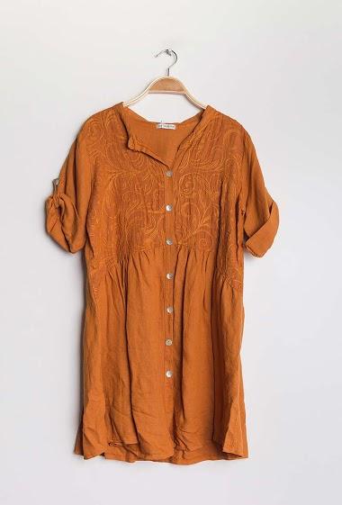 Cotton / linen dress - For Her Paris