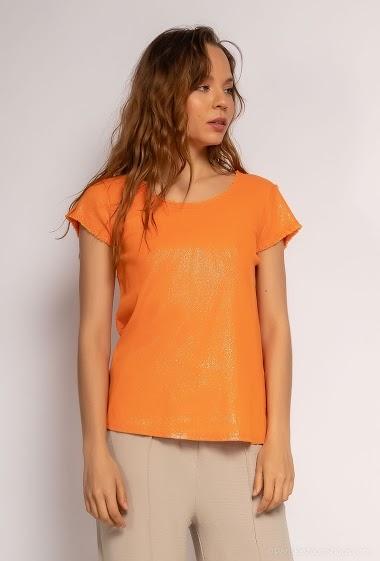T shirt uni lurex - For Her Paris