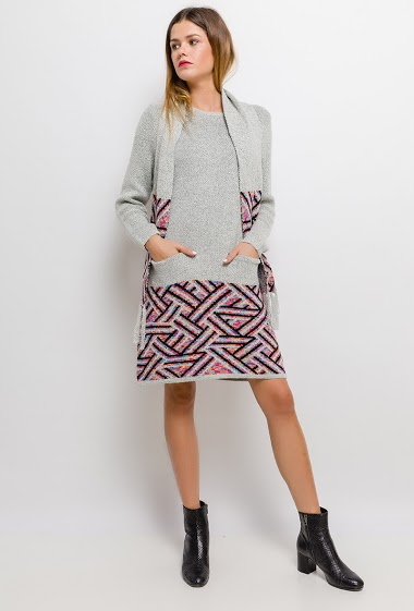 Printed knit dress - For Her Paris