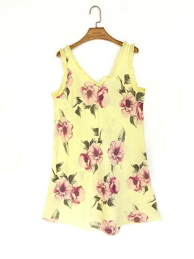 flower dress in cotton and linen - For Her Paris