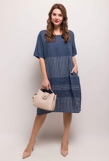 Plus Size Striped Dress - For Her Paris