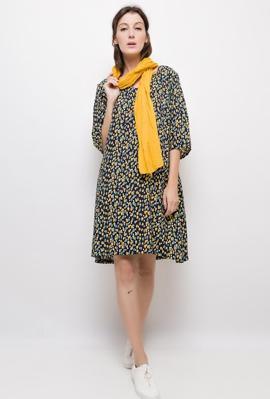 Big size Printed dress - For Her Paris
