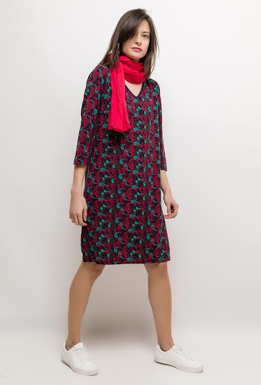 Printed dress OMERINE - For Her Paris
